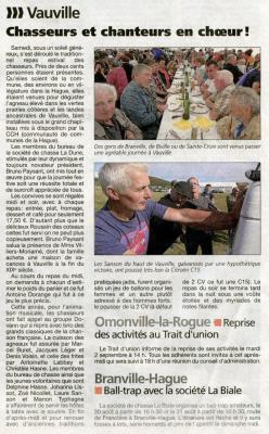 Img317 la presse de la manche 30 8 2014 vauville repas des chasseurs